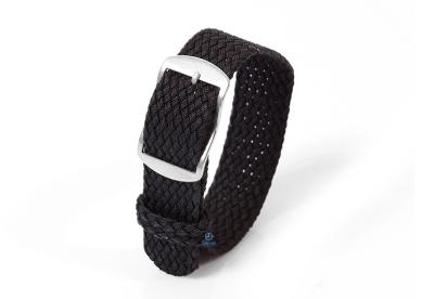 Perlon horlogeband 18mm zwart