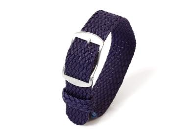 Perlon horlogeband 18mm donkerblauw