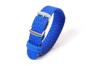 Perlon horlogeband 18mm royal blauw