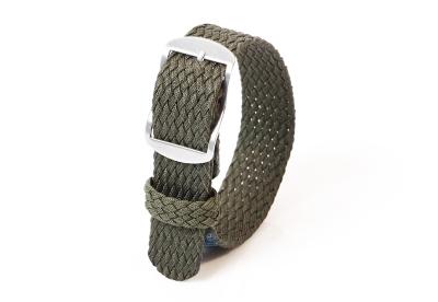 Perlon horlogeband 18mm donkergroen