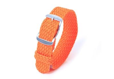 Perlon horlogeband 18mm oranje