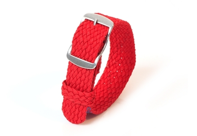 Perlon horlogeband 18mm rood