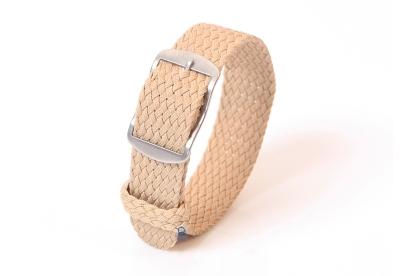 Perlon horlogeband 18mm beige