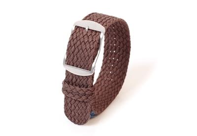 Perlon horlogeband 18mm donkerbruin