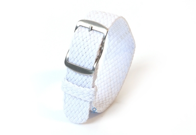 Perlon horlogeband 18mm wit