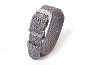Perlon horlogeband 18mm grijs