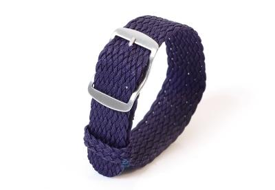 Perlon horlogeband 22mm donkerblauw