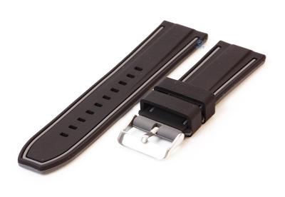 Siliconen horlogebanden 24mm zwart/grijs (reversible)