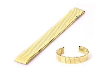 Rekbare horlogeband zonder sluiting - 16mm goud