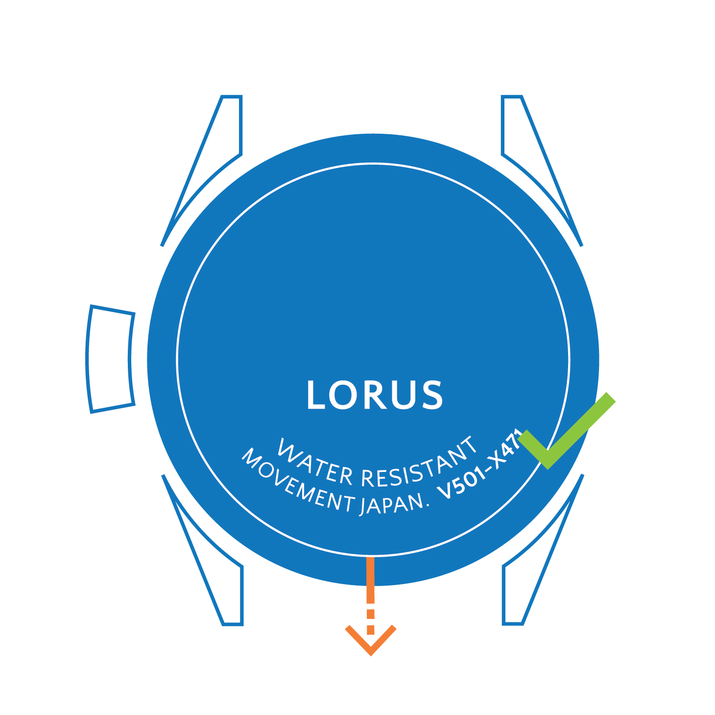 Originele Lorus horlogebanden Horlogeband Lorus