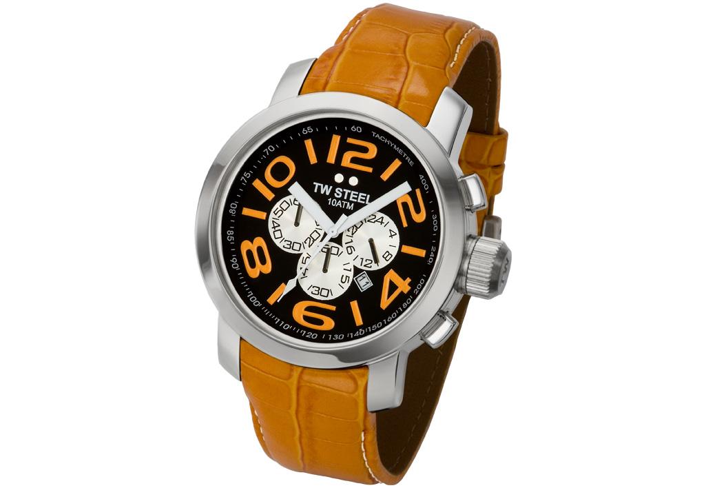 d89150de921 Watchstrap steel orange croco leather jpg 1025x708 Steel 24mm