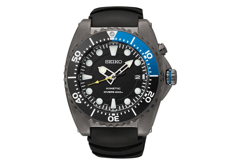 Seiko Мужские Kinetic Diver SKA579P2: Seiko Мужские Kinetic Diver SKA579P2 - Корпус этих часов крупного размера