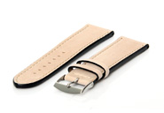 Horlogeband 22mm beige