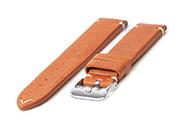 Horlogeband 20mm vintage bruin leer