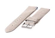 Horlogeband 20mm vintage grijs leer