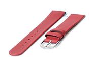 Horlogeband 20mm naadloos rood leer