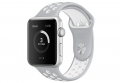 Apple watch sport horlogeband grijs/wit